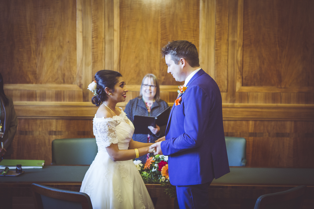 Rhys and Thubeena tie the knot