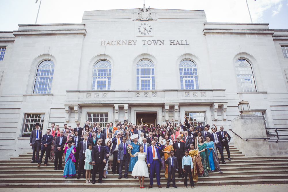 group shot Hackney Town Hall
