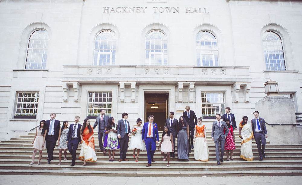 Bridesmaids and groomsmen Hackney