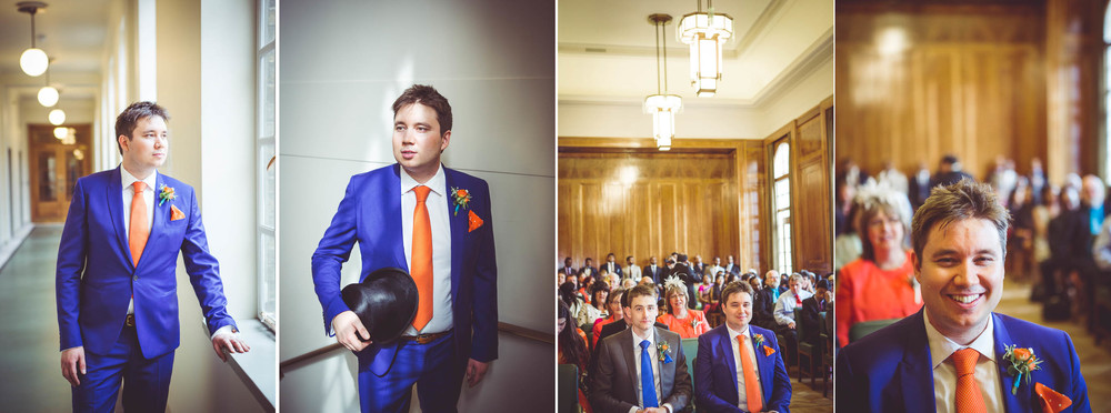 Groom in Civic suite hackney