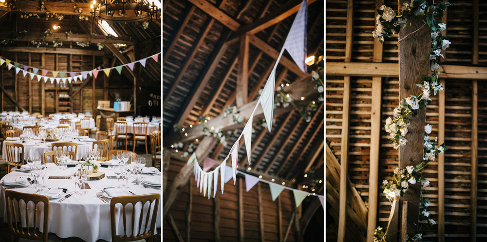 Alternative barn wedding