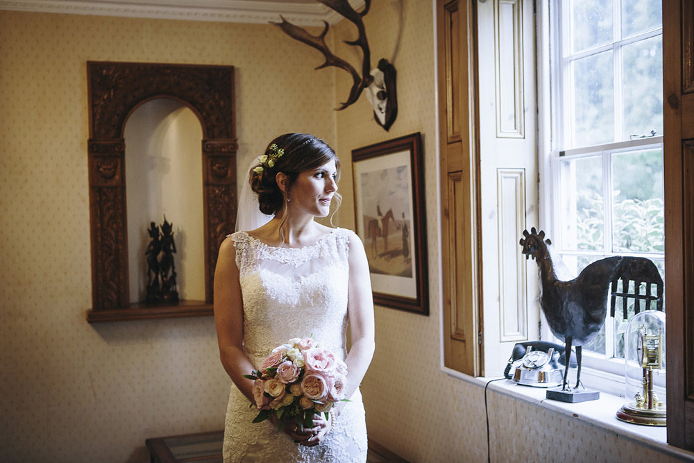 The bride before the ceremony