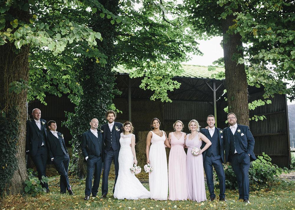The wedding party at Herons farm