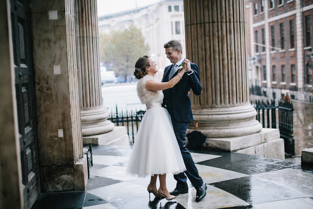 Sally and simon's wedding at The Happenstance, London