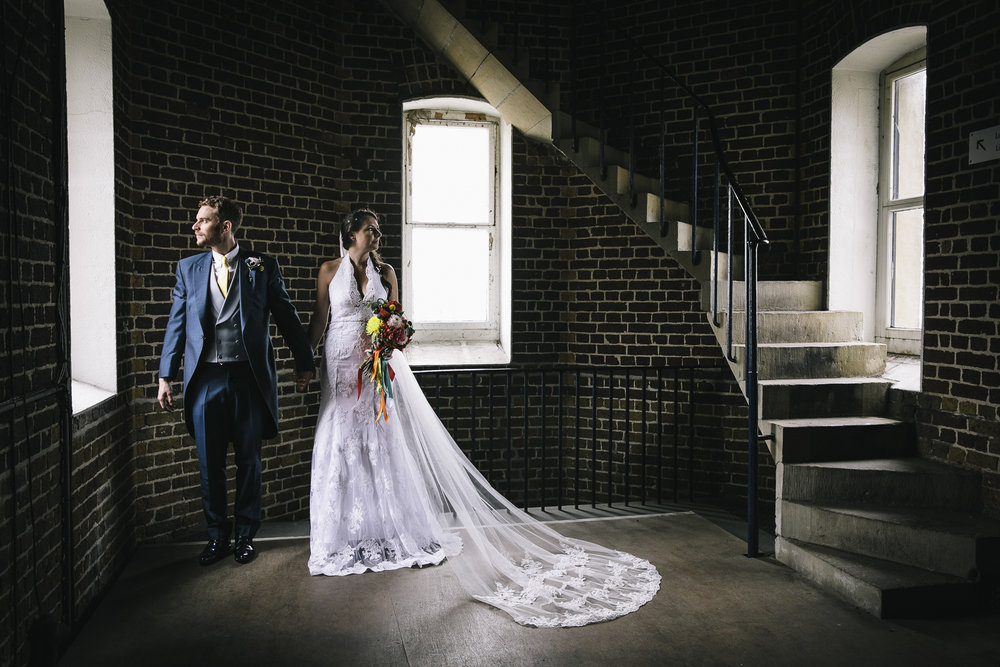 Colourful wedding at Trinity Buouy Wharf