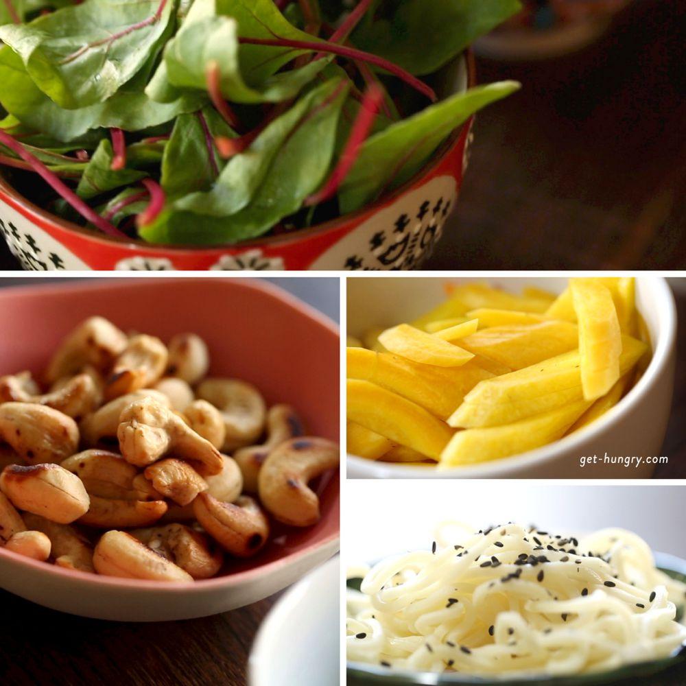 Scharfe Asiapfanne mit jungem Brokkoli, Chili und Hühnchen in Soja-Limetten-Honig-Marinade
