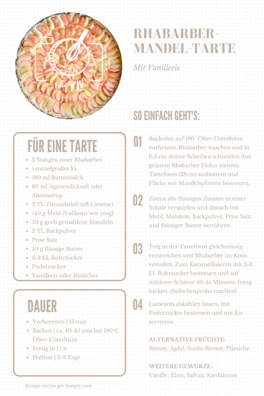 Rhabarber-Mandel-Tarte Rezept PDF