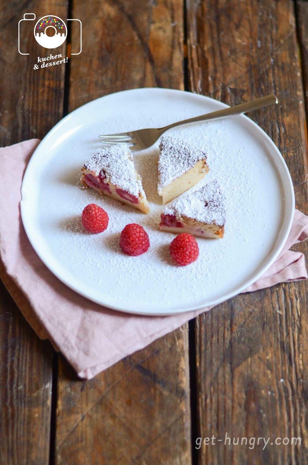 Kleine Sünde zum Dessert: Ricotta-Cheese-Cake mit Himbeeren