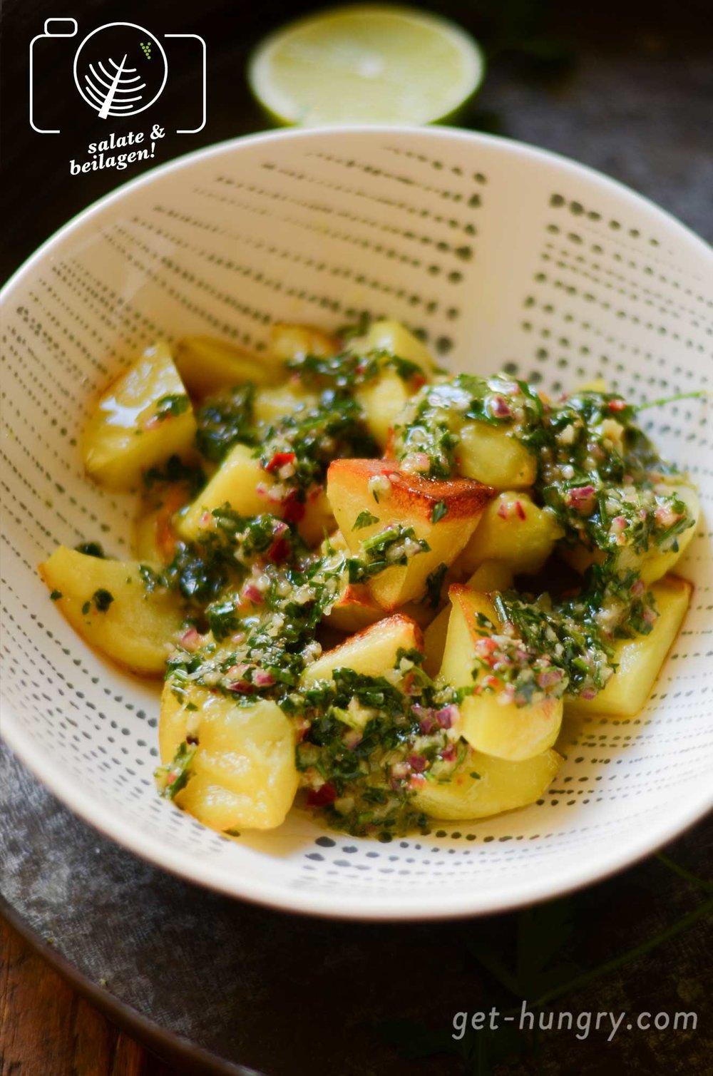 Salsa Chimichurri - für Cheesy Meatballs und Kartoffel-Wedges