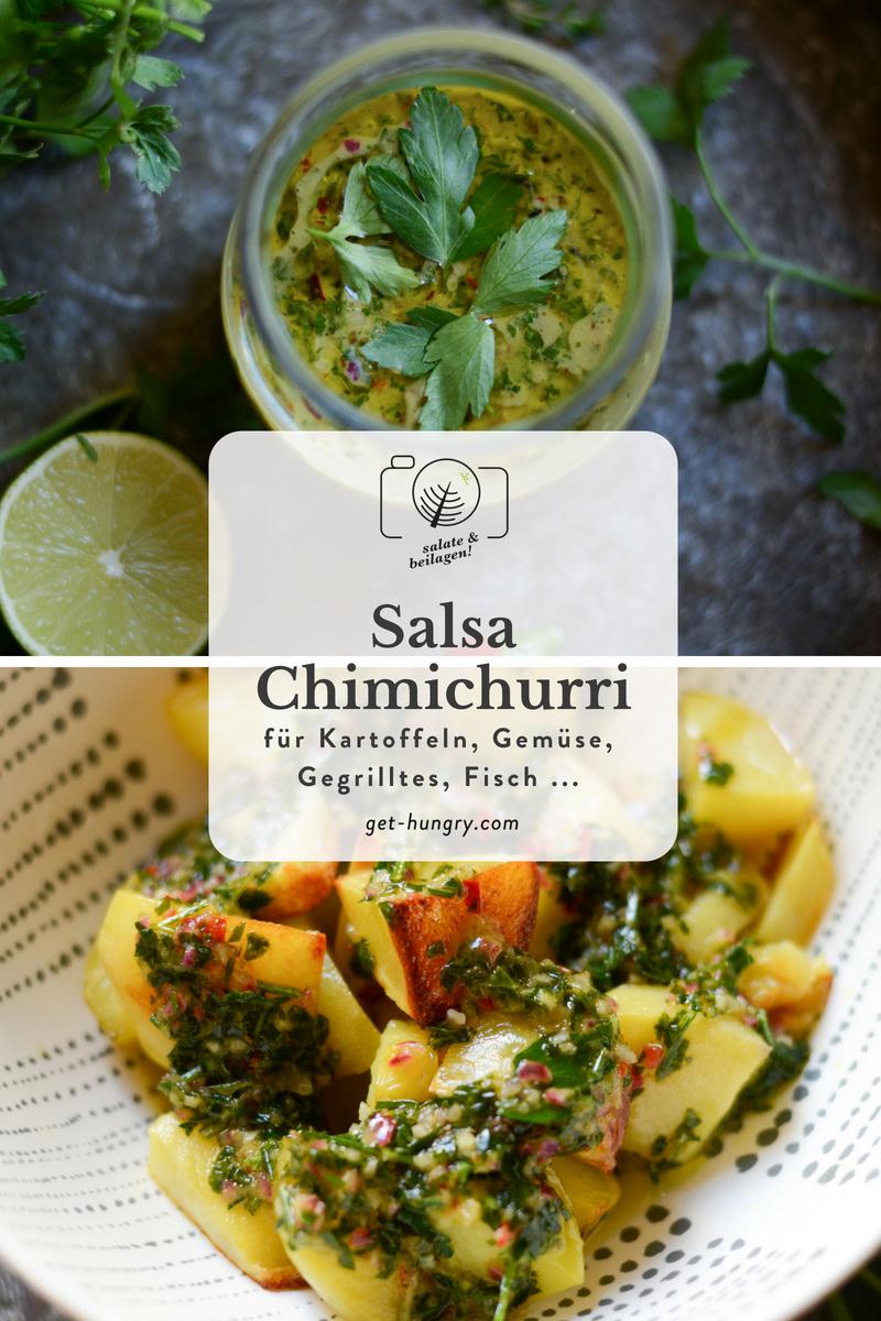 Salsa Chimichurri mit Kartoffel-Wedges