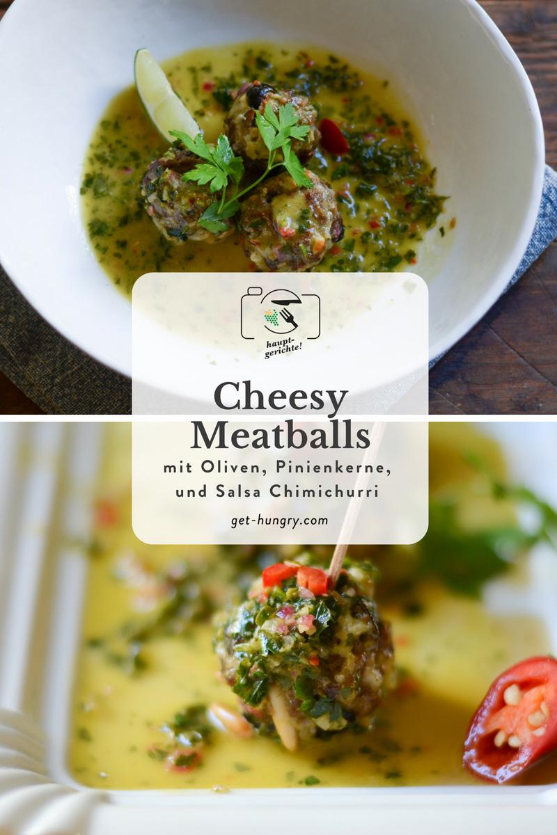Cheesy Meatballs mit Salsa Chimichurri