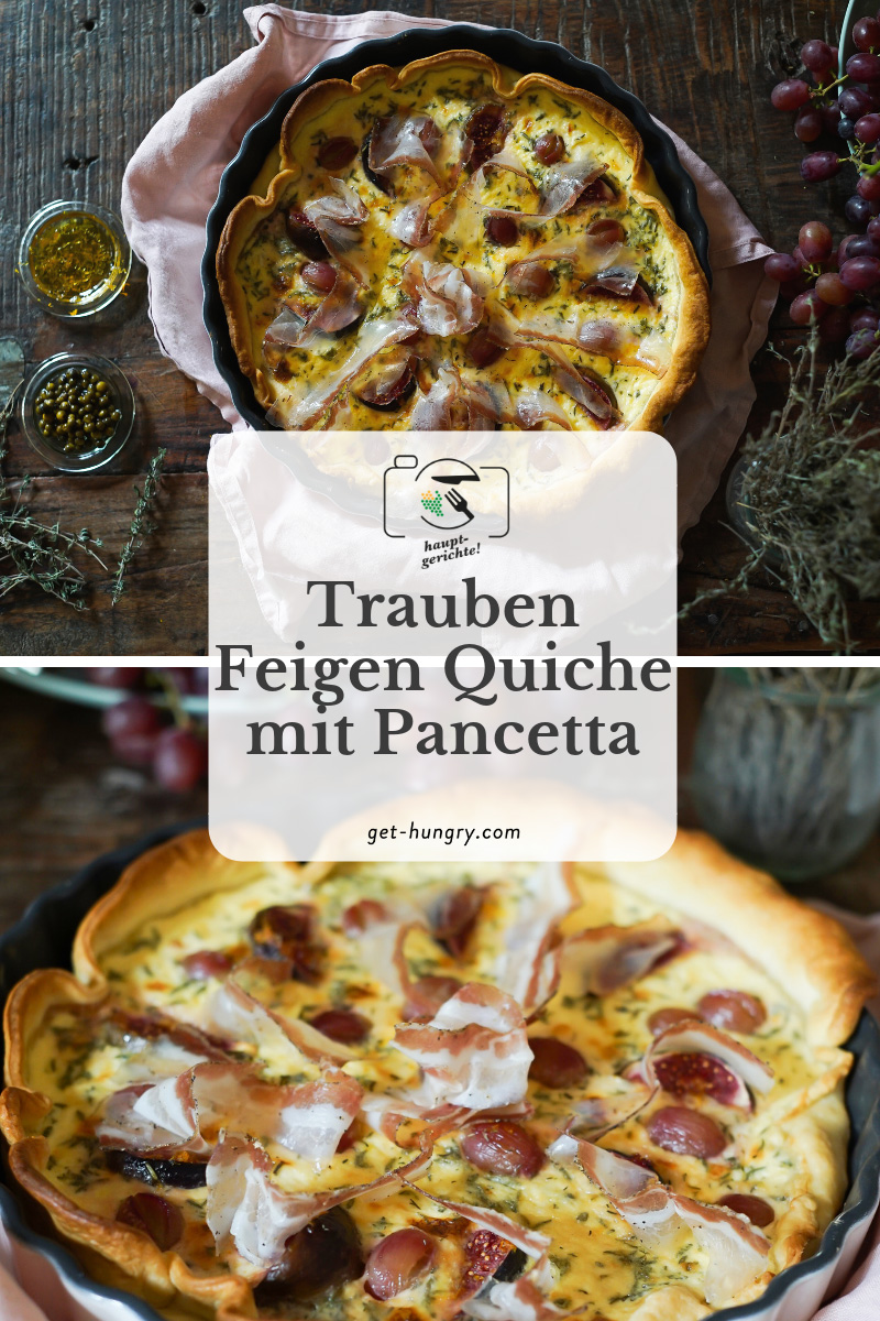 Trauben-Feigen-Quiche mit Pancetta und Pfeffer-Mascarpone