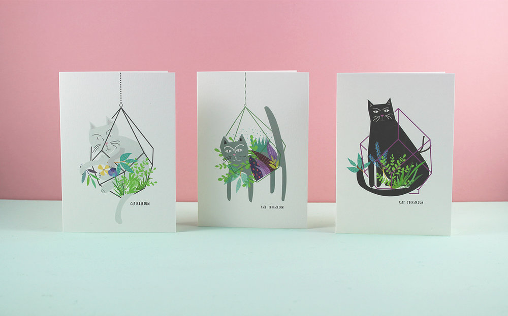 Cat TerrariumCards £1.50 (RRP £2.50)