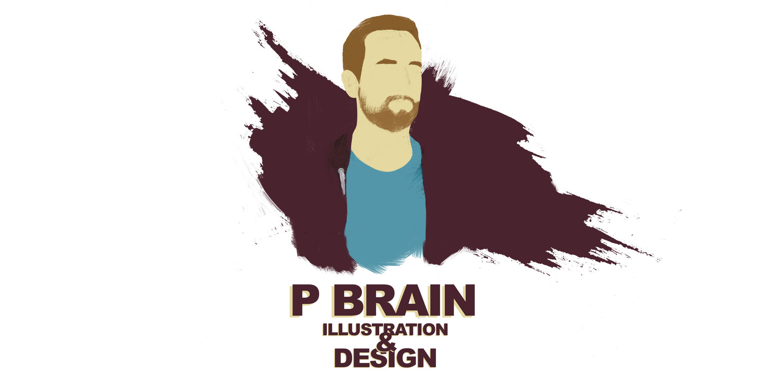 P Brain Illustration & Design