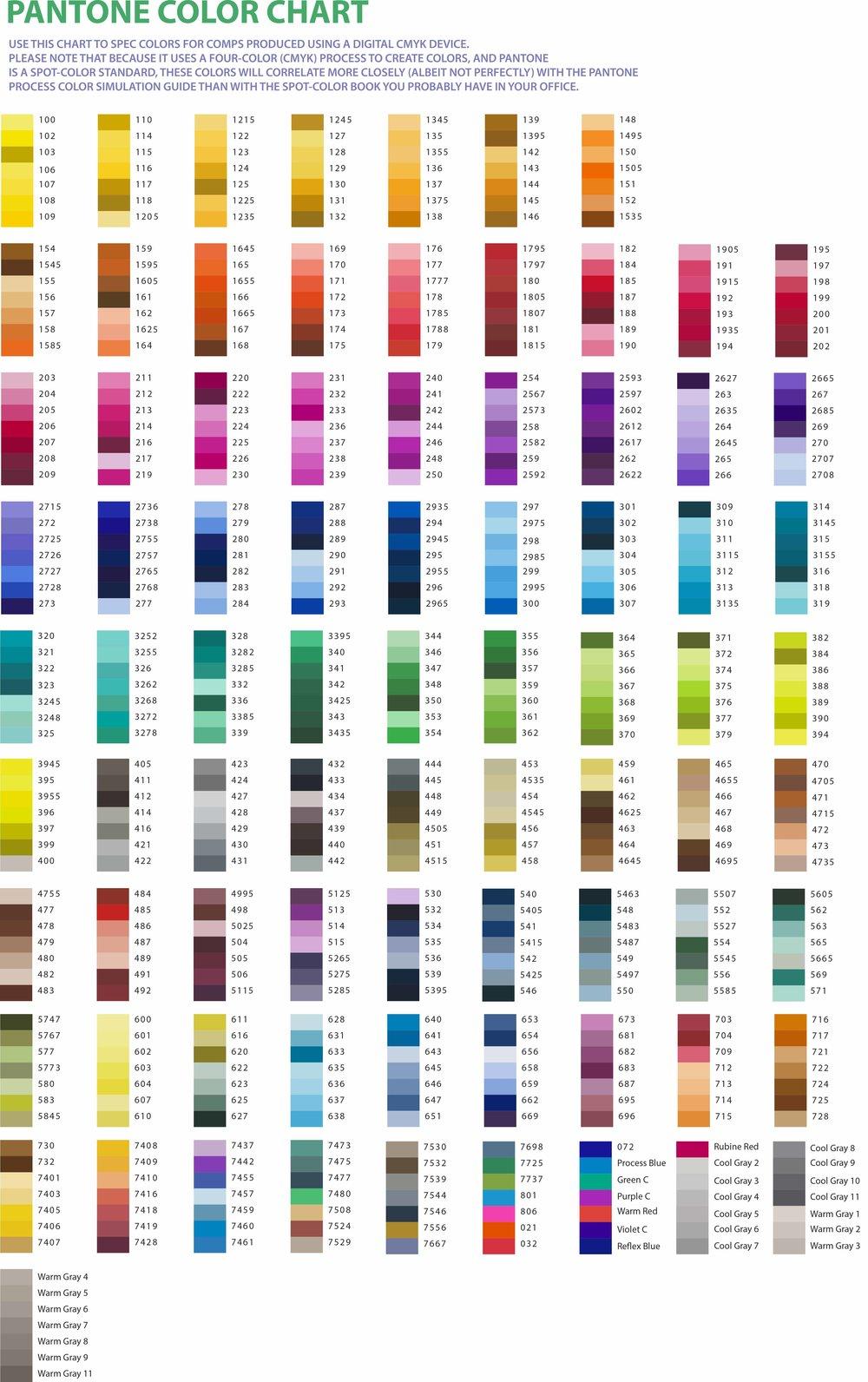PMS Color Chart iDex International – Pms Color Chart