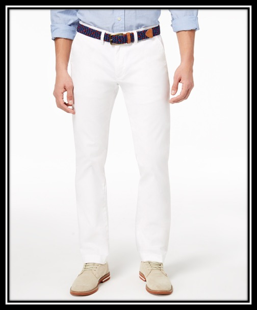 Tommy Hilfiger Men's TH Flex Stretch Custom-Fit Chino Pant $59.98