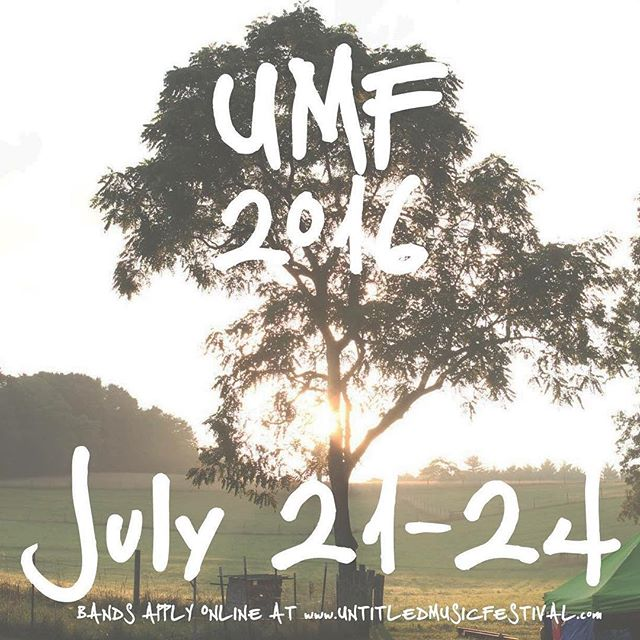 Whether you play with yourself or you play with a band, apply online at www.untitledmusicfestival.com and you may be playing at UMF 2016. #umfva