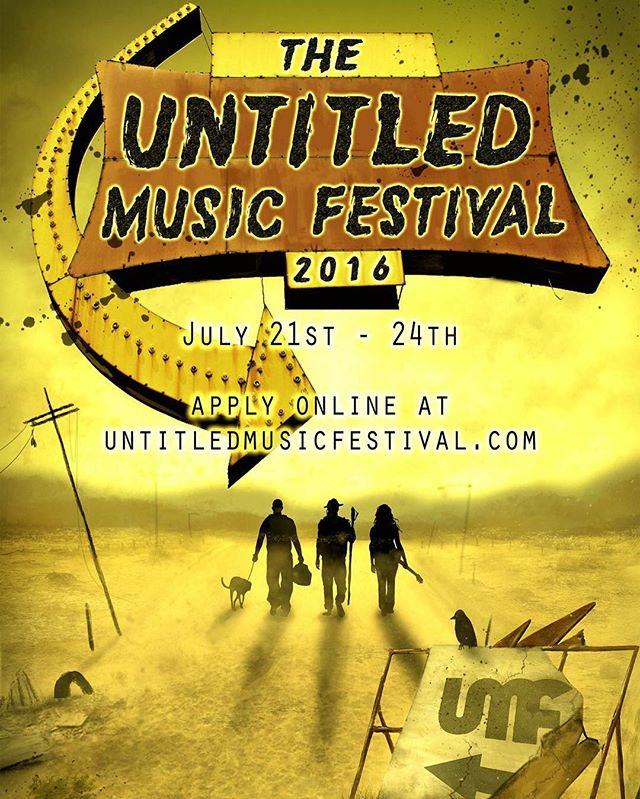 Official poster for UMF 2016! Head on over to untitledmusicfestival.com for more info on the festival or if you want to apply to play this year! If you or your band is selected you get your name on this bad boy. Artwork by Sarah Miller Creations. Share the love!#umfva