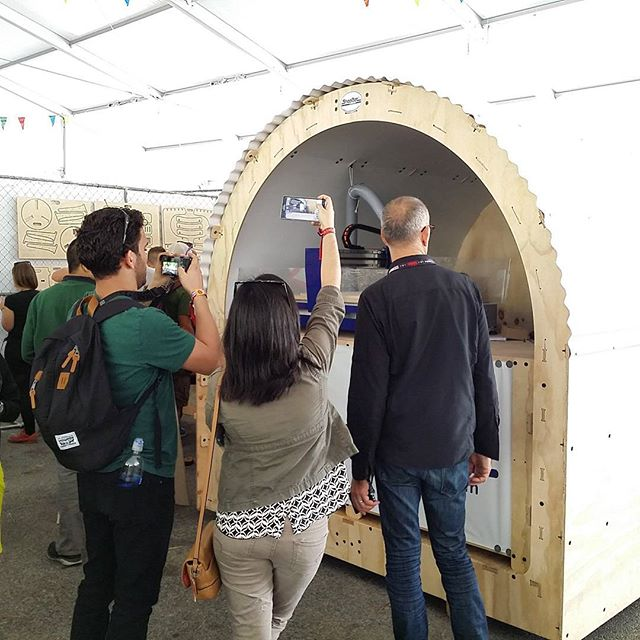 Love seeing people excited about Digital Fabrication! @Shopbot @makerfaire