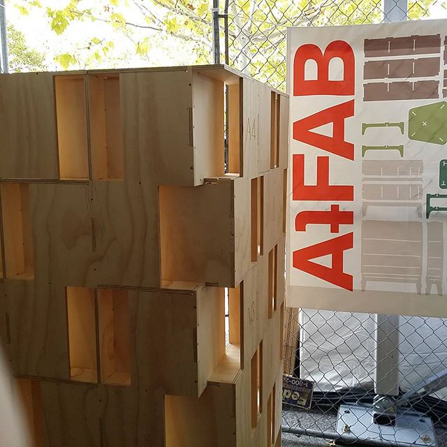 AtFab at @makerfaire. Open Source, CNC cut furniture designs. Partnered with Open Desk to get these designs fabricated anywhere in the world.