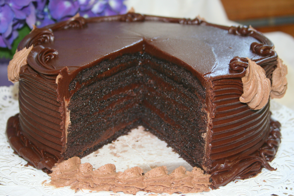 Mocha Layer Cake With Chocolate-Rum Cream Filling Recipe ...