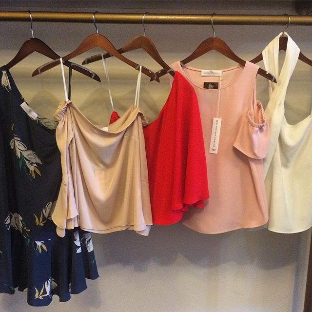 So excited for #amandauprichard #allthesecolors #oneshoulder #offtheshoulder #halter #coldshoulder  #somethingforeveryone #dado #dadoboutique