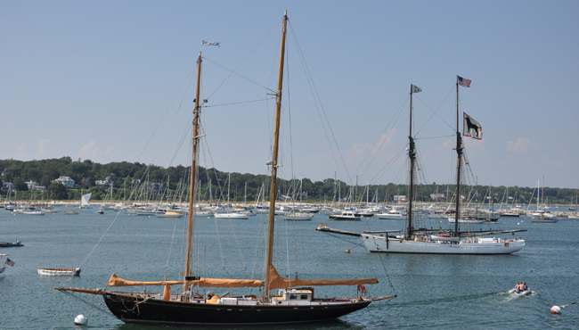 "The   ""When and If""   built for Gen. George S. Patton to sail around the world with his family, when and if, he returned from the war. Sadly he never realized that dream. Photo taken while docked at Martha's Vineyard."
