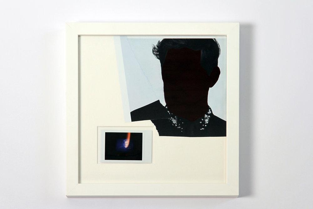 """Polaroid #11. 2016.   11"""" x 11"""" Framed w/ embellished matte."""