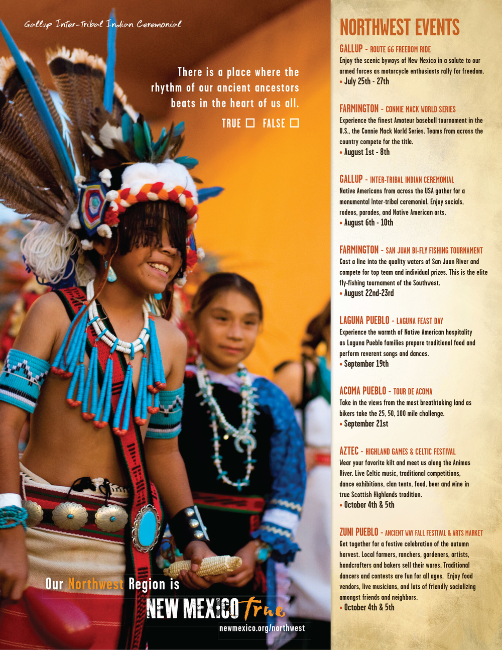 Regional event Ad for Northwestern New Mexico