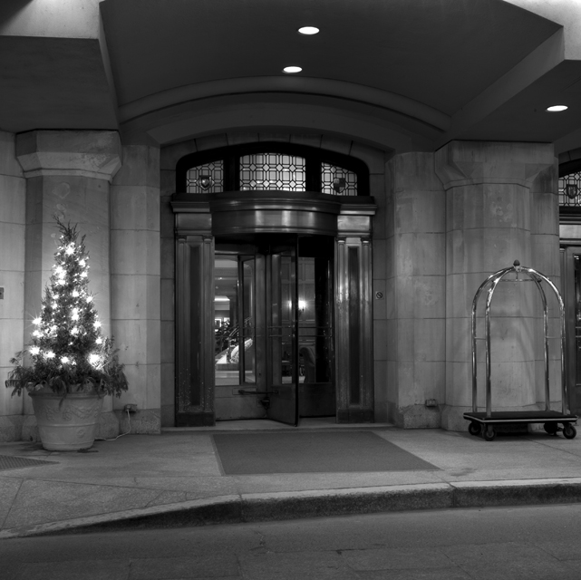 Chateau Laurier entrance night