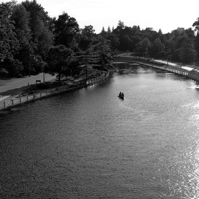 Rideau Canal canoe