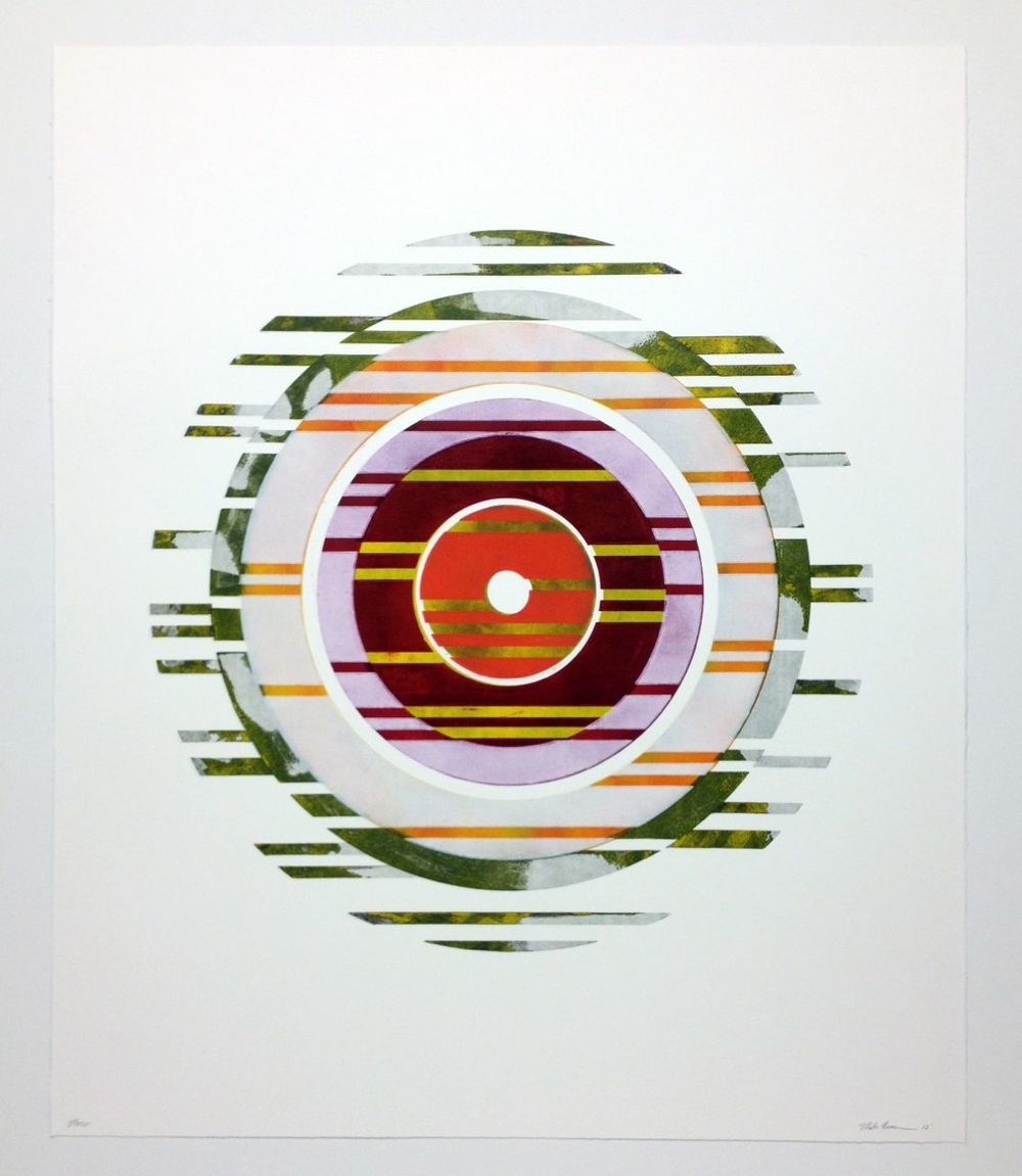 'untitled' woodcut mono print on Revere 'silk', 29 x 36, 2012