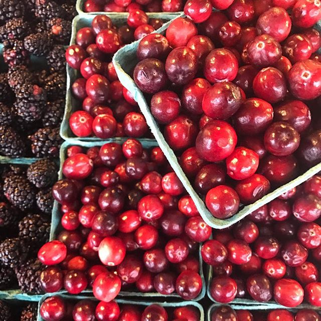 Holiday market finds at Pike Place  #cranberries