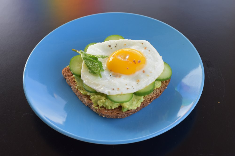 Cucumber Egg Avocado Toast