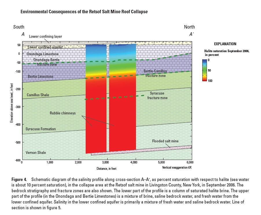 "These charts are from a 2013 report from the U.S. Geological Survey   titled ""Environmental Consequences of the Retsof Salt Mine Roof Collapse."""