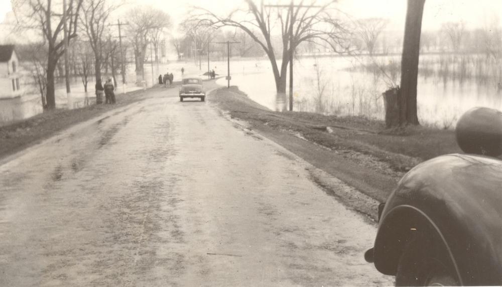 """Moscow Landing"" (near the old Genesee Valley Canal), Jones Bridge Road, Town of Leicester, c. 1940. Courtesy of the Office of the Livingston County Historian."