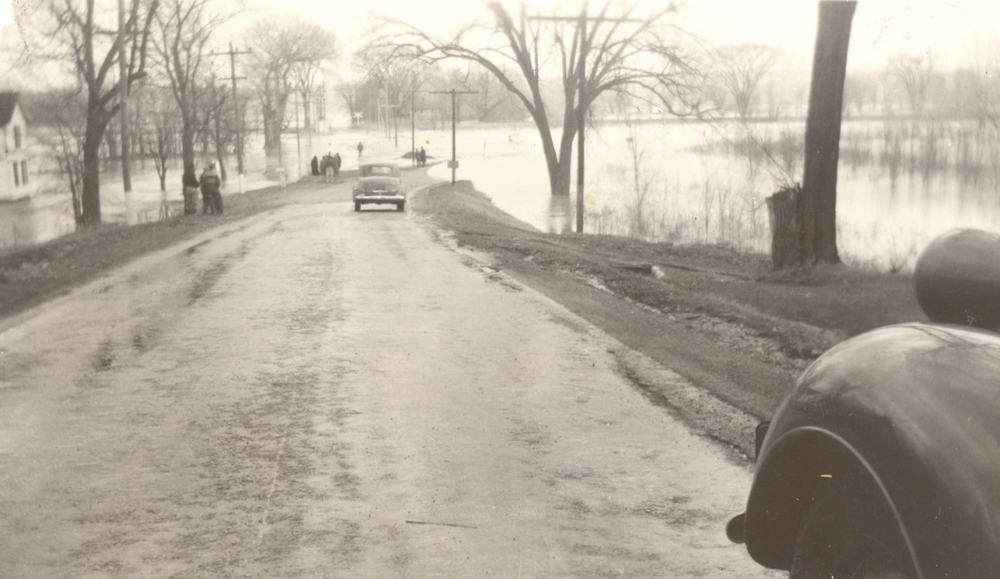 """Moscow Landing"" (near the old Genesee Valley Canal), Jones Bridge Road, Town of Leicester, c. 1940.     Courtesy of the Office of the Livingston County Historian"