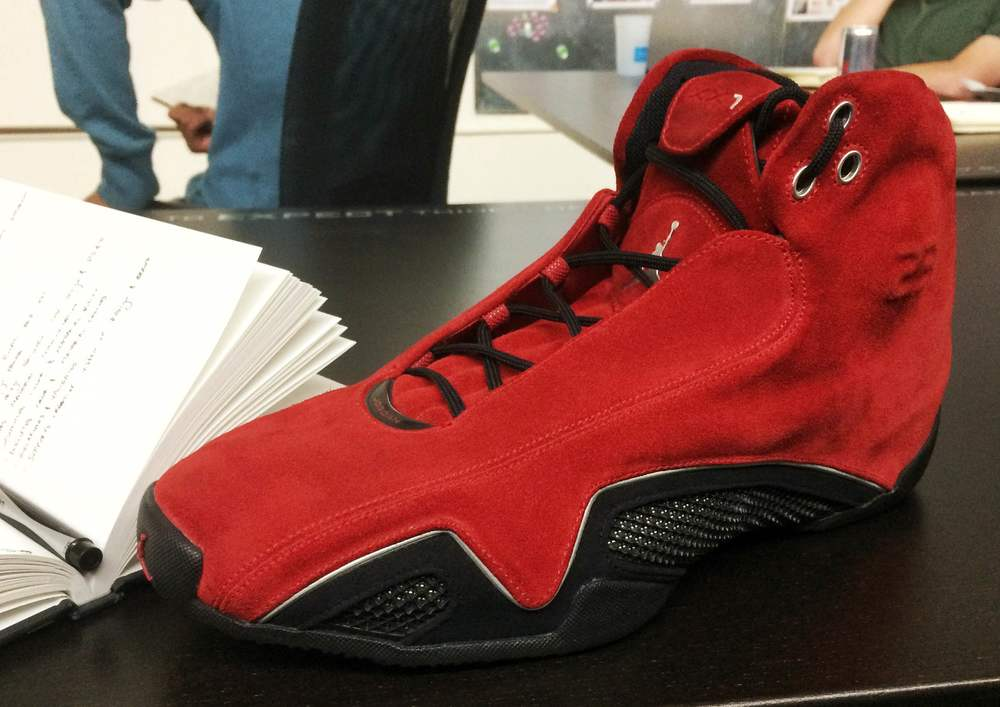 One of Mrs. Suzette's favorite projects at Jordan Brand. Air Jordan XX1 based on Michael Jordan's red Ducati.