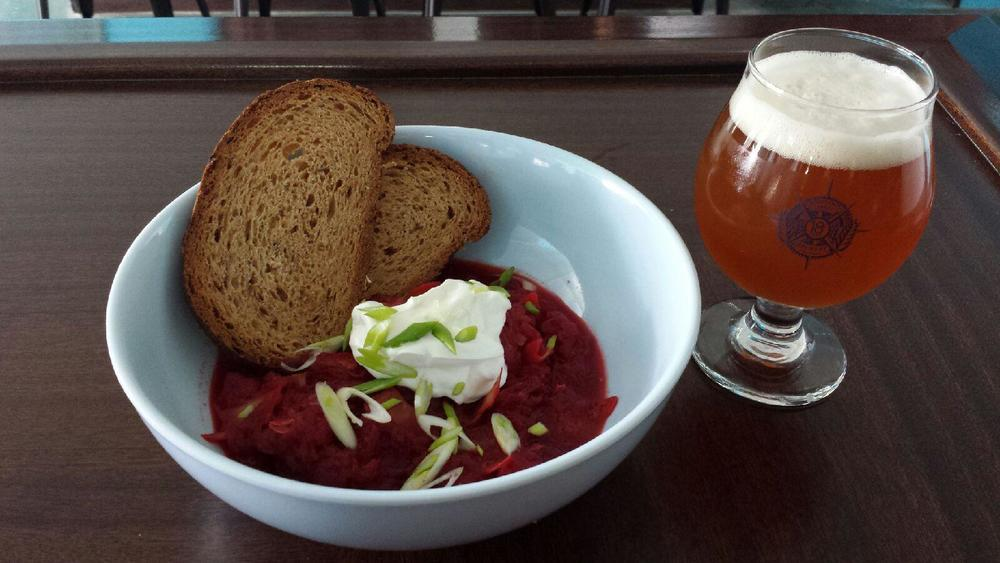 If you didn't make it in for the Borscht, this is what you missed out on! Shown paired with our Rye Pale Tube Socks.