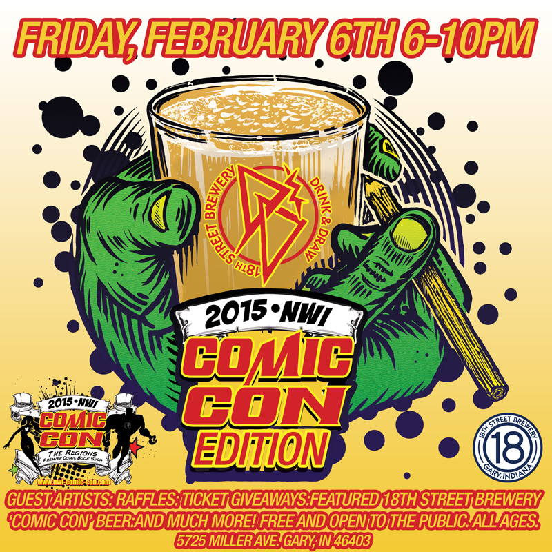 DRINK and DRAW NWI COMIC CON EDITION, Friday Feb 6th
