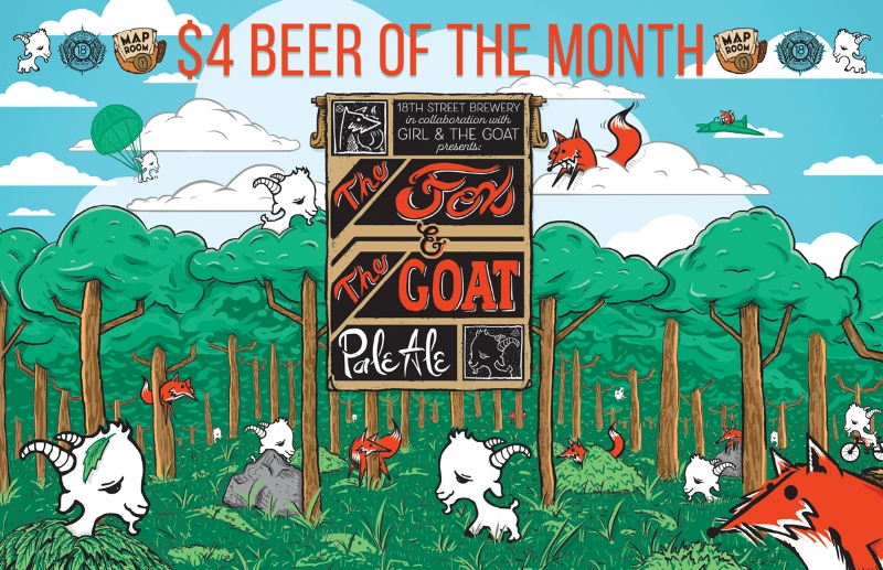 The Fox & The Goat $4 Beer of the Month at Map Room Chicago! — 18th Chicago Brewery Map on