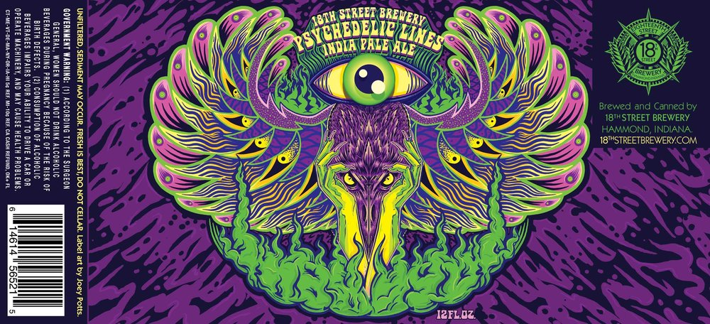 PSYCHEDELIC LINES IPA
