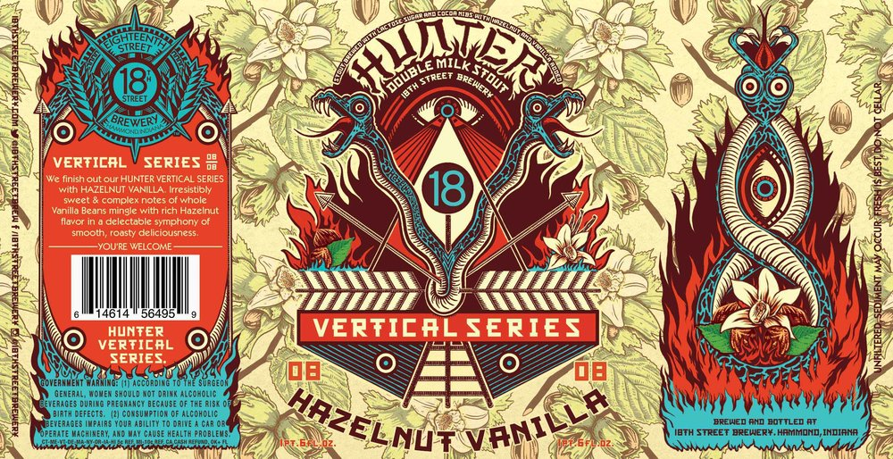 HUNTER HAZELNUT VANILLA 08/08 in the HUNTER VERTICAL SERIES