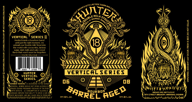 HUNTER BOURBON BARREL AGED  06/08 in the HUNTER VERTICAL SERIES