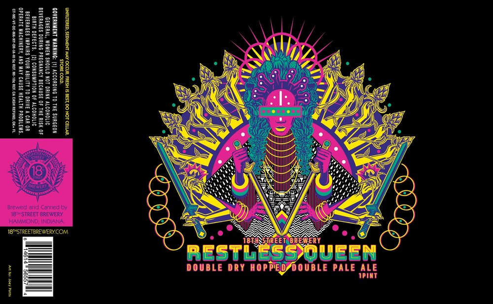 Restless Queen: Double Dry Hopped Double India Pale Ale