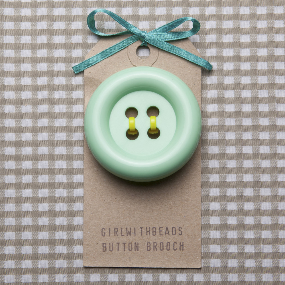 Spearmint Button Brooch-Yellow.jpg