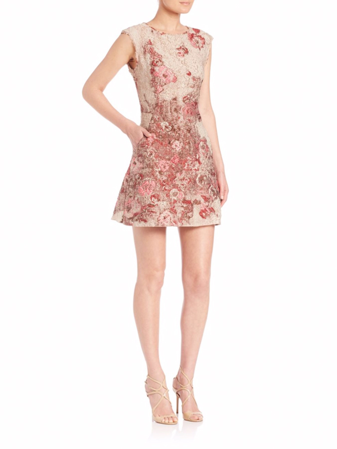 Albert Ferretti Floral Jacquard Dress