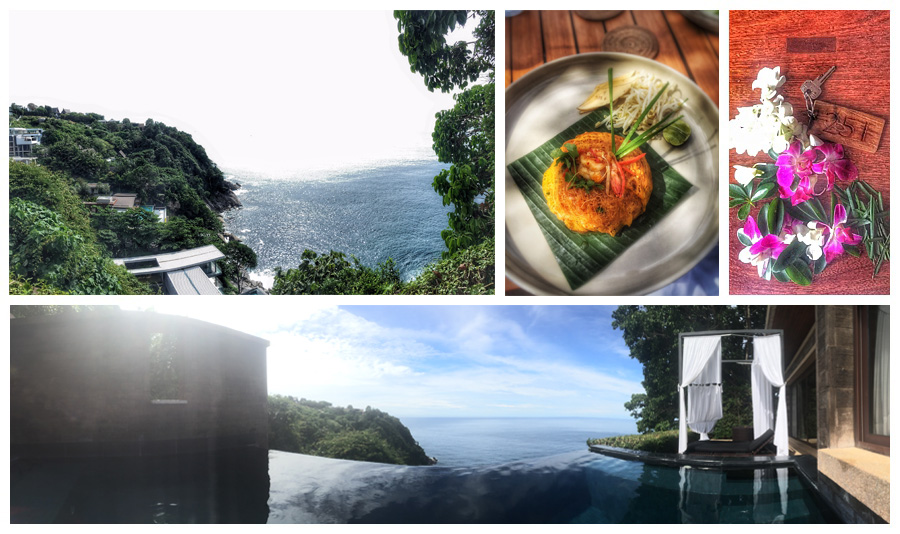 Views from your private pool + villa, plus the most delicious pad thai ever (don't knock the classics)
