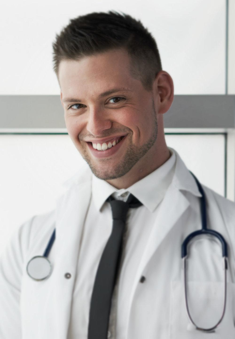 Handsome Hispanic Doctor Male