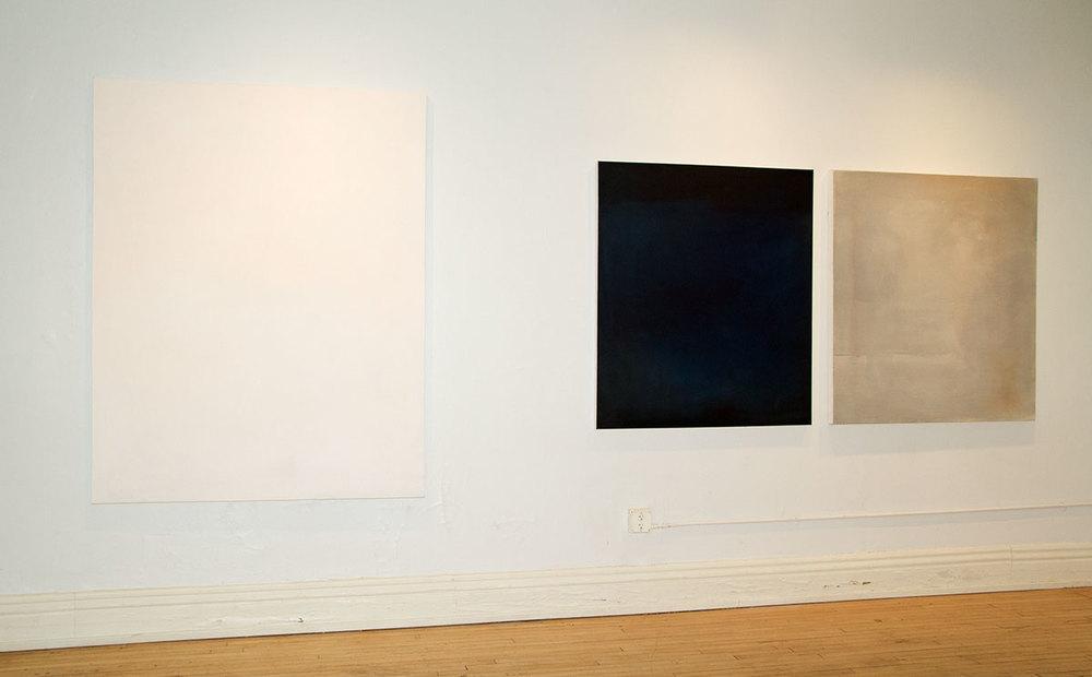Installation view, Negative Capability, painting by Nicholas Szymanski